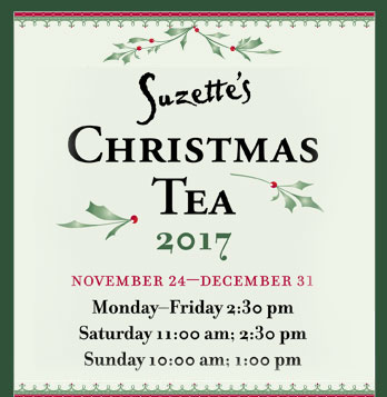 Suzette's Christmas Tea, a Holiday Tradition